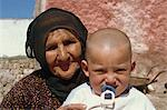 Grandmother and baby, Cappadocia, Anatolia, Turkey, Asia Minor, Eurasia Stock Photo - Premium Rights-Managed, Artist: Robert Harding Images, Code: 841-02921053