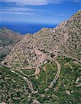 Hairpin bends on winding road up a rocky hill at La Alobra, Majorca, Balearic Islands, Spain, Europe Stock Photo - Premium Rights-Managed, Artist: Robert Harding Images, Code: 841-02921253