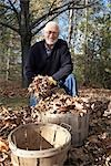 Man Raking Leaves Stock Photo - Premium Royalty-Free, Artist: Kristin Sjaarda          , Code: 600-02922648