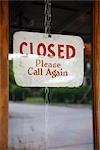 Close-up of Closed Sign on Door                                                                                                                                                                          Stock Photo - Premium Rights-Managed, Artist: Mark Peter Drolet        , Code: 700-02922827