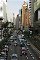 Busy traffic on Gloucester Road, Wanchai, Hong Kong, China, Asia Stock Photo - Premium Rights-Managednull, Code: 841-02924932