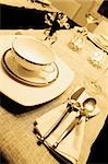 Place setting on a dining table Stock Photo - Premium Royalty-Freenull, Code: 625-02926445