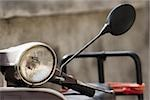 Close-up of a motor scooter, Italian Riviera, Santa Margherita Ligure, Genoa, Liguria, Italy Stock Photo - Premium Royalty-Free, Artist: Glowimages               , Code: 625-02927997