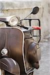 Close-up of a motor scooter, Italian Riviera, Santa Margherita Ligure, Genoa, Liguria, Italy Stock Photo - Premium Royalty-Free, Artist: Glowimages               , Code: 625-02928194