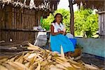 Mature woman peeling corn, Papantla, Veracruz, Mexico Stock Photo - Premium Royalty-Freenull, Code: 625-02933361