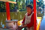 Mature woman traveling on a trajineras, Xochimilco, Mexico Stock Photo - Premium Royalty-Freenull, Code: 625-02933369