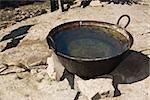 High angle view of a wok filled with water, Hidalgo, Papantla, Veracruz, Mexico Stock Photo - Premium Royalty-Freenull, Code: 625-02933663