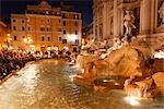 Trevi Fountain at Dusk, Rome, Italy                                                                                                                                                                      Stock Photo - Premium Rights-Managed, Artist: Mike Randolph            , Code: 700-02935397
