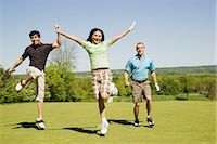People at Golf Course                                                                                                                                                                                    Stock Photo - Premium Royalty-Freenull, Code: 600-02935482