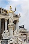 Pallas Athene Fountain in Front of the Parliament Building, Vienna, Austria                                                                                                                              Stock Photo - Premium Rights-Managed, Artist: Rudy Sulgan              , Code: 700-02935529