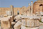 Severan forum, Leptis Magna, UNESCO World Heritage Site, Libya, North Africa, Africa                                                                                                                     Stock Photo - Premium Rights-Managed, Artist: Robert Harding Images, Code: 841-02943736