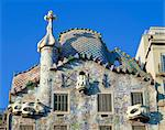 The Casa Batllo, a Gaudi house, in Barcelona, Cataluna, Spain, Europe                                                                                                                                    Stock Photo - Premium Rights-Managed, Artist: Robert Harding Images, Code: 841-02944385