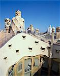 Roof and chimneys of the Casa Mila, a Gaudi house, UNESCO World Heritage Site, in Barcelona, Cataluna, Spain, Europe                                                                                     Stock Photo - Premium Rights-Managed, Artist: Robert Harding Images, Code: 841-02944389