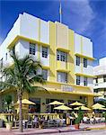 The Leslie Hotel, Ocean Drive, Art Deco District, Miami Beach, South Beach, Miami, Florida, United States of America, North America                                                                      Stock Photo - Premium Rights-Managed, Artist: Robert Harding Images, Code: 841-02944406