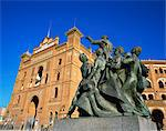 Statue in front of the bullring in the Plaza de Toros in Madrid, Spain, Europe                                                                                                                           Stock Photo - Premium Rights-Managed, Artist: Robert Harding Images, Code: 841-02944424
