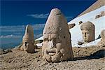 Statue heads of Zeus, Antiochos and Tyche, west terrace at Nemrut Dag, UNESCO World Heritage Site, Anatolia, Turkey, Asia Minor, Eurasia                                                                 Stock Photo - Premium Rights-Managed, Artist: Robert Harding Images, Code: 841-02944630