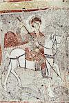 Fresco in Church of the Serpent, figure could be St. George, Goreme, Cappadocia, Anatolia, Turkey, Asia Minor, Eurasia                                                                                   Stock Photo - Premium Rights-Managed, Artist: Robert Harding Images, Code: 841-02944693