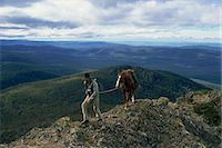 The man from Snowy Mountains and his horse, Australia, Pacific                                                                                                                                           Stock Photo - Premium Rights-Managednull, Code: 841-02945436
