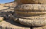 Base of column in foreground and Forum, Jerash, Jordan, Middle East                                                                                                                                      Stock Photo - Premium Rights-Managed, Artist: Robert Harding Images, Code: 841-02945836