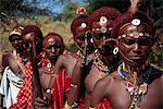 Line of Samburu Moran (warriors), Loodua, Kenya, East Africa, Africa                                                                                                                                     Stock Photo - Premium Rights-Managed, Artist: Robert Harding Images, Code: 841-02945971