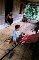 flores - Ngada woman weaving ikat cloth, Bena Village, Flores, Indonesia, Southeast Asia, Asia                                                                                                                    Stock Photo - Premium Rights-Managednull, Code: 841-02946977