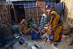 Families in the area outside their shack in a slum in the city of Dhaka (Dacca), Bangladesh, Asia                                                                                                        Stock Photo - Premium Rights-Managed, Artist: Robert Harding Images, Code: 841-02947135