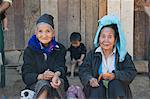 Hmong tribal village women selling handicrafts, Luang Prabang, Laos, Indochina, Southeast Asia, Asia                                                                                                     Stock Photo - Premium Rights-Managed, Artist: Robert Harding Images, Code: 841-02947206