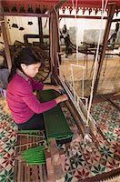 Woman Weaving, Phnom Penh, Cambodia, Indochina, Southeast Asia, Asia                                                                                                                                     Stock Photo - Premium Rights-Managednull, Code: 841-02947439