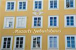 Mozart's Birthplace, now a museum, in Getreidegasse, Salzburg, Austria, Europe                                                                                                                           Stock Photo - Premium Rights-Managed, Artist: Robert Harding Images, Code: 841-02947459