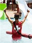 lifeguard at a waterpark Stock Photo - Premium Royalty-Free, Artist: Arian Camilleri          , Code: 640-02951727