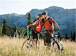 mountain bikers kissing Stock Photo - Premium Royalty-Free, Artist: R. Ian Lloyd, Code: 640-02952189
