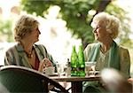 Two senior women in outdoor cafe Stock Photo - Premium Royalty-Free, Artist: Robert Harding Images, Code: 628-02953827