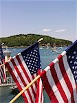 American Flags, Bar Harbour, Maine, USA Stock Photo - Premium Rights-Managed, Artist: Natasha Nicholson        , Code: 700-02954820