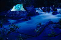 quest - Lighted Tent by Liberty Creek @ Night Southcentral Alaska/nsummer                                                                                                                                        Stock Photo - Premium Rights-Managednull, Code: 854-02955077
