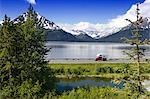 Vehicles Travel Seward Hwy Turnagain Arm SC AK Summer Chugach Mtns                                                                                                                                       Stock Photo - Premium Rights-Managed, Artist: AlaskaStock              , Code: 854-02955736