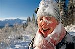 Close-up of Woman w/ Snowcovered Face SC Alaska                                                                                                                                                          Stock Photo - Premium Rights-Managed, Artist: AlaskaStock              , Code: 854-02955756