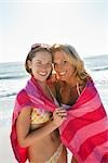 Mother and Daughter on Beach, Florida, USA