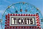 Ticket Booth, Astroland Amusement Park, Coney Island, Brooklyn, New York, New York, USA Stock Photo - Premium Rights-Managed, Artist: Rudy Sulgan              , Code: 700-02957707