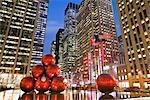 Christmas Decorations, 6th Avenue, Manhattan, New York, New York, USA