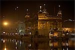 Golden Temple at Night, Amritsar, Punjab, India                                                                                                                                                          Stock Photo - Premium Rights-Managed, Artist: Sarah Murray             , Code: 700-02957808