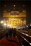 Golden Temple at Night, Amritsar, Punjab, India                                                                                                                                                          Stock Photo - Premium Rights-Managed, Artist: Sarah Murray             , Code: 700-02957809
