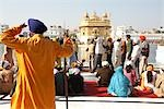 People at Golden Temple, Amritsar, Punjab, India                                                                                                                                                         Stock Photo - Premium Rights-Managed, Artist: Sarah Murray             , Code: 700-02957811