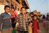 Group of Kids in Chapagaon, Nepal                                                                                                                                                                        Stock Photo - Premium Rights-Managednull, Code: 700-02957841