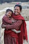 Mother and Baby in Chapagaon, Nepal                                                                                                                                                                      Stock Photo - Premium Rights-Managed, Artist: Sarah Murray             , Code: 700-02957842