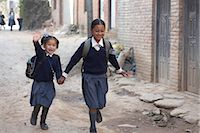 School Children in Chapagaon, Nepal                                                                                                                                                                      Stock Photo - Premium Rights-Managednull, Code: 700-02957855