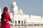 Woman at Golden Temple, Amritsar, Punjab, India