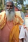 Portrait of Man, Rishikesh, Uttarakhand, India                                                                                                                                                           Stock Photo - Premium Rights-Managed, Artist: Sarah Murray             , Code: 700-02957971