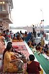 Ritual by Ganges River, Rishikesh, Uttarakhand, India                                                                                                                                                    Stock Photo - Premium Rights-Managed, Artist: Sarah Murray             , Code: 700-02957974