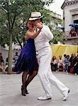 Tango Couple,Plaza Dorrego,Buenos Aires,Argentina                                                                                                                                                        Stock Photo - Premium Rights-Managed, Artist: Axiom Photographic       , Code: 851-02958607
