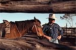 Cowboy,Queensland,Australia                                                                                                                                                                              Stock Photo - Premium Rights-Managed, Artist: Axiom Photographic       , Code: 851-02958716
